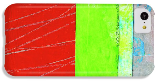 IPhone 5c Case featuring the painting Square Collage No. 5 by Nancy Merkle