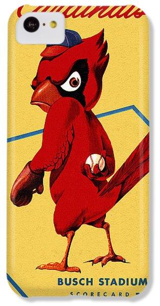 St. Louis Cardinals Vintage 1956 Program IPhone 5c Case