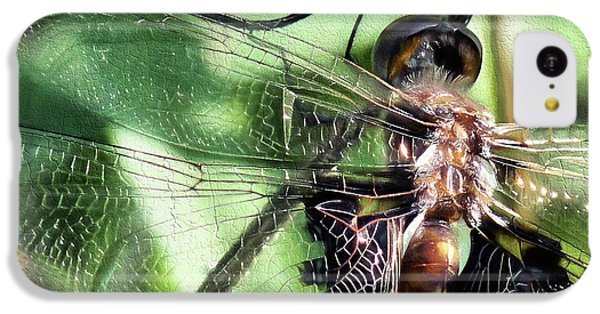 IPhone 5c Case featuring the digital art Stained Glass Dragonfly by JC Findley