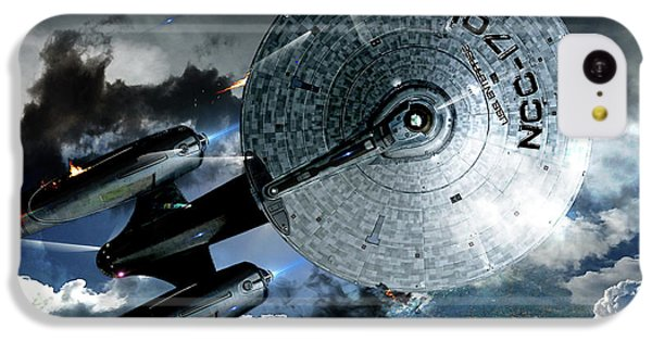 Johnny Carson iPhone 5c Case - Star Trek Into Darkness, Original Mixed Media by Thomas Pollart