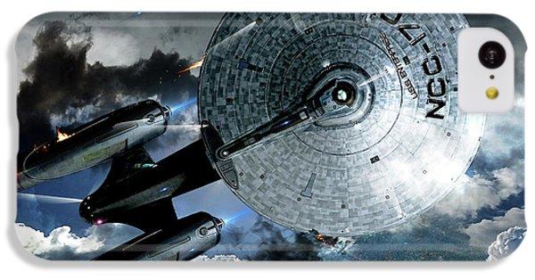 Star Trek Into Darkness, Original Mixed Media IPhone 5c Case by Thomas Pollart