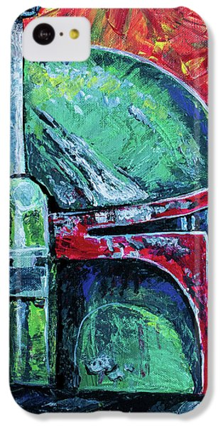 IPhone 5c Case featuring the painting Star Wars Helmet Series - Boba Fett by Aaron Spong