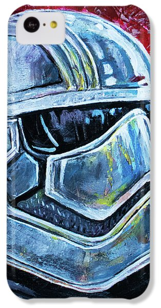 IPhone 5c Case featuring the painting Star Wars Helmet Series - Captain Phasma by Aaron Spong
