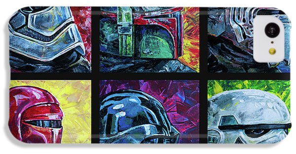 IPhone 5c Case featuring the painting Star Wars Helmet Series - Collage by Aaron Spong