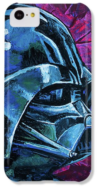 IPhone 5c Case featuring the painting Star Wars Helmet Series - Darth Vader by Aaron Spong