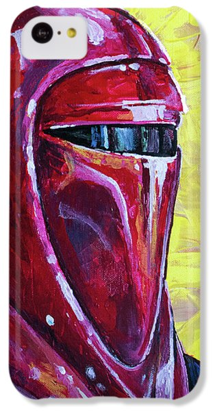 IPhone 5c Case featuring the painting Star Wars Helmet Series - Imperial Guard by Aaron Spong