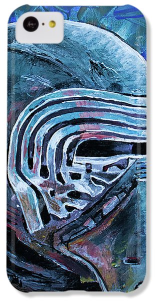 IPhone 5c Case featuring the painting Star Wars Helmet Series - Kylo Ren by Aaron Spong