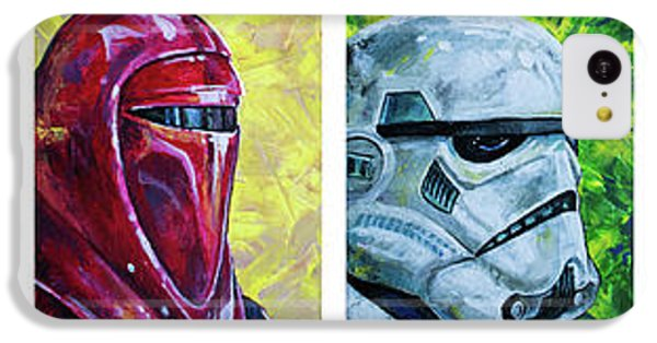 IPhone 5c Case featuring the painting Star Wars Helmet Series - Panorama by Aaron Spong