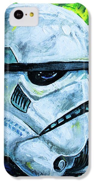 IPhone 5c Case featuring the painting Star Wars Helmet Series - Storm Trooper by Aaron Spong