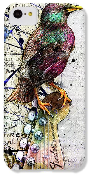 Starlings iPhone 5c Case - Starling On A Strat by Gary Bodnar