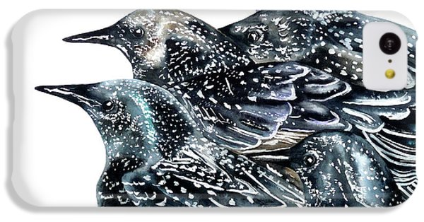 Starlings IPhone 5c Case by Marie Burke