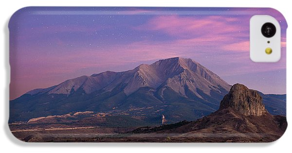 IPhone 5c Case featuring the photograph Starry Sunset Over West Spanish Peak by Aaron Spong