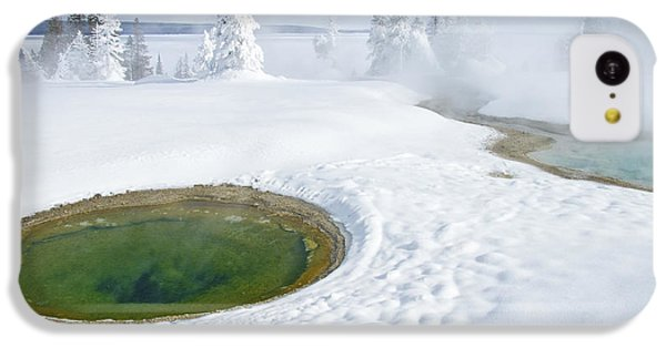 IPhone 5c Case featuring the photograph Steam And Snow by Gary Lengyel