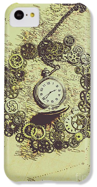 Navigation iPhone 5c Case - Steampunk Travel Map by Jorgo Photography - Wall Art Gallery