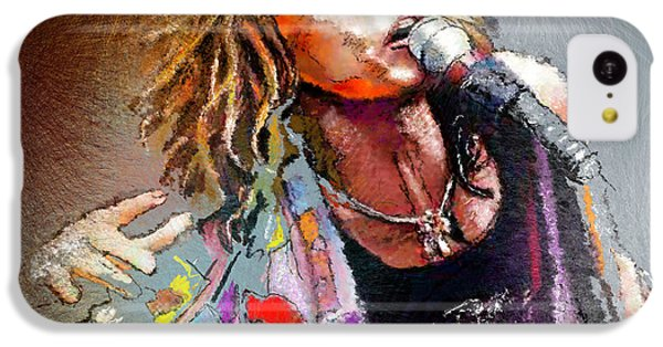 Steven Tyler iPhone 5c Case - Steven Tyler 02  Aerosmith by Miki De Goodaboom
