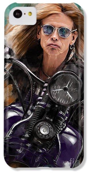 Steven Tyler iPhone 5c Case - Steven Tyler On A Bike by Melanie D