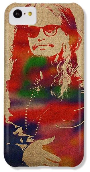 Steven Tyler iPhone 5c Case - Steven Tyler Watercolor Portrait Aerosmith by Design Turnpike