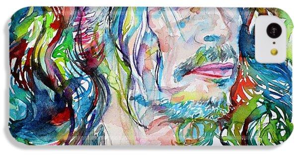Steven Tyler iPhone 5c Case - Steven Tyler - Watercolor Portrait by Fabrizio Cassetta