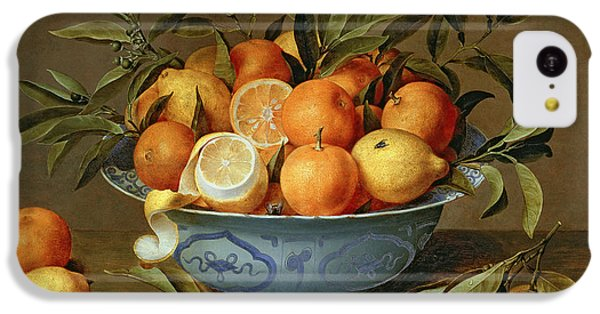 Still Life iPhone 5c Case - Still Life With Oranges And Lemons In A Wan-li Porcelain Dish  by Jacob van Hulsdonck