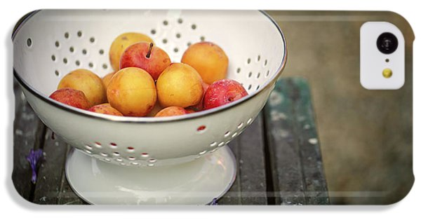 Fruit Bowl iPhone 5c Case - Still Life With Yellow Plums  by Nailia Schwarz