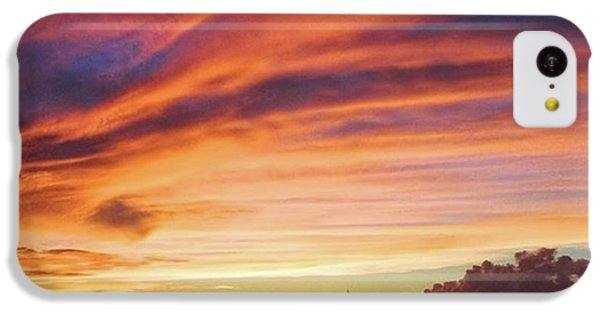 Sky iPhone 5c Case - Store Bay, Tobago At Sunset #view by John Edwards