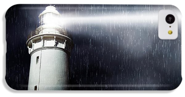 Navigation iPhone 5c Case - Storm Searchlight by Jorgo Photography - Wall Art Gallery