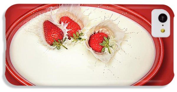 Strawberries Splashing In Milk IPhone 5c Case