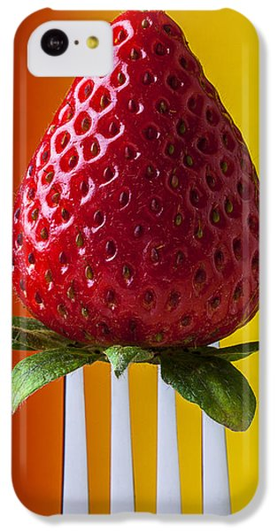 Strawberry On Fork IPhone 5c Case by Garry Gay