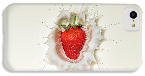 Strawberry Splash In Milk IPhone 5c Case