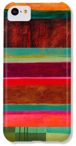 Stripe Assemblage 1 IPhone 5c Case by Jane Davies