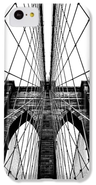Brooklyn Bridge iPhone 5c Case - Strong Perspective by Az Jackson