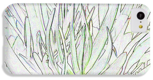 Succulent Leaves In High Key IPhone 5c Case by Nareeta Martin