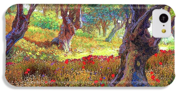 Tranquil Grove Of Poppies And Olive Trees IPhone 5c Case