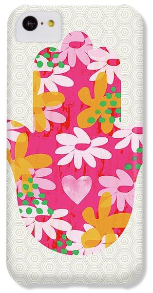 Bat iPhone 5c Case - Summer Garden Hamsa- Art By Linda Woods by Linda Woods