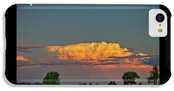 IPhone 5c Case featuring the photograph Summer Night Storms Brewing And Moon Above by James BO Insogna