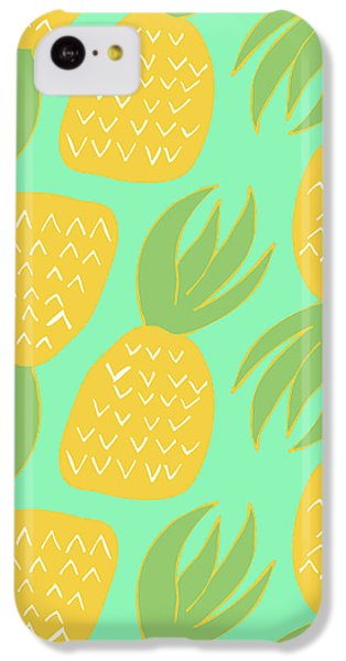 Summer Pineapples IPhone 5c Case by Allyson Johnson