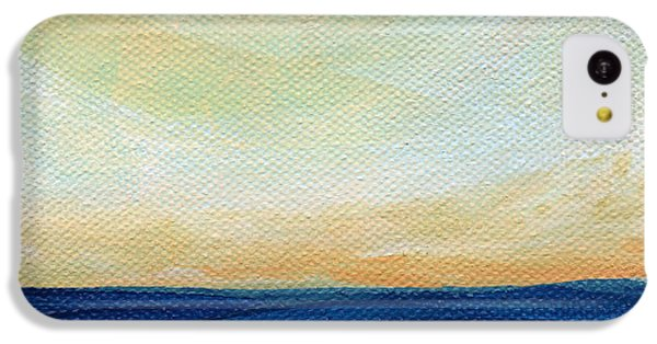 Ocean Sunset iPhone 5c Case - Sun Swept Coast- Abstract Seascape by Linda Woods