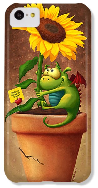 Floral iPhone 5c Case - Sunflower And Dragon by Tooshtoosh