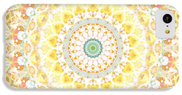 Sunflower iPhone 5c Case - Sunflower Mandala- Abstract Art By Linda Woods by Linda Woods