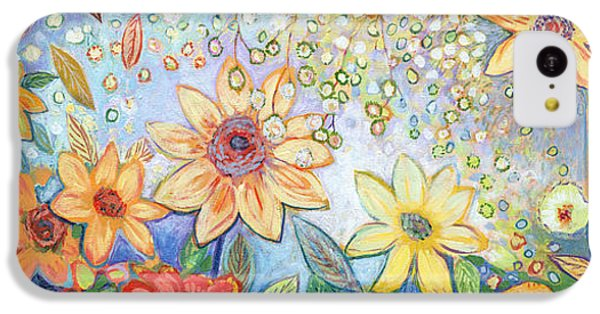 Sunflower iPhone 5c Case - Sunflower Tropics by Jennifer Lommers