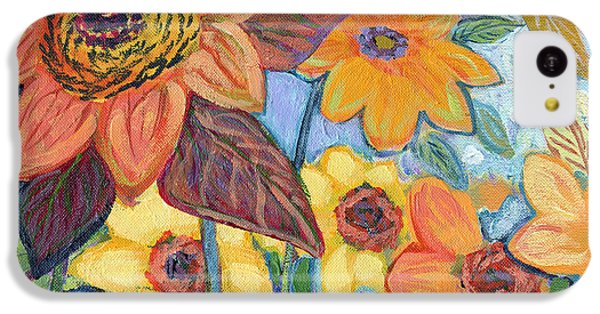 Sunflower iPhone 5c Case - Sunflower Tropics Part 1 by Jennifer Lommers