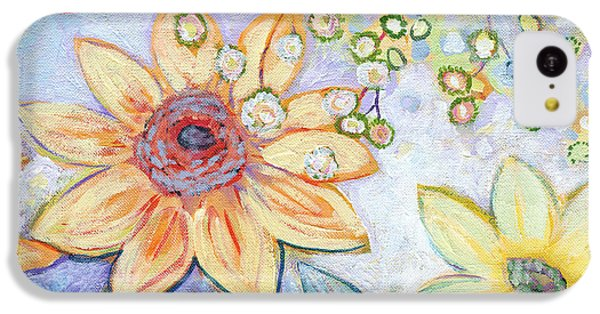 Sunflower iPhone 5c Case - Sunflower Tropics Part 2 by Jennifer Lommers