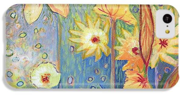 Sunflower iPhone 5c Case - Sunflower Tropics Part 3 by Jennifer Lommers