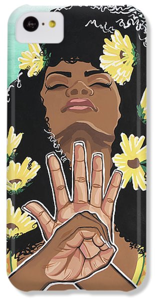 Sunflower iPhone 5c Case - Sunflowers And Dashiki by Alisha Lewis