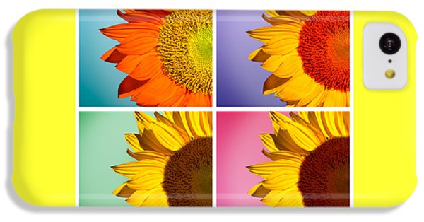 Sunflowers Collage IPhone 5c Case by Mark Ashkenazi
