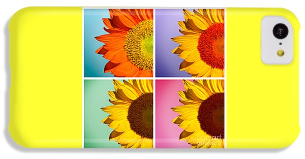 Sunflower iPhone 5c Case - Sunflowers Collage by Mark Ashkenazi
