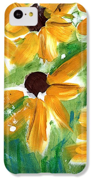 Sunflower iPhone 5c Case - Sunflowers by Linda Woods