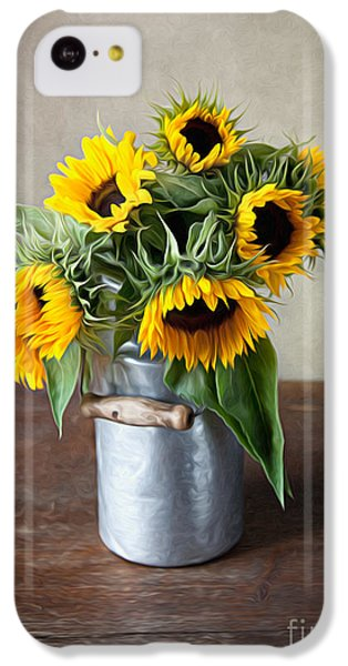 Sunflower iPhone 5c Case - Sunflowers by Nailia Schwarz