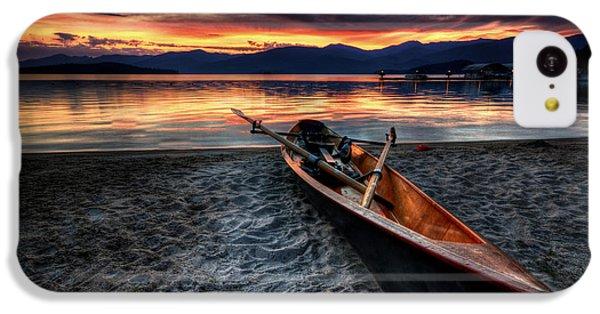 Boat iPhone 5c Case - Sunrise Boat by Matt Hanson