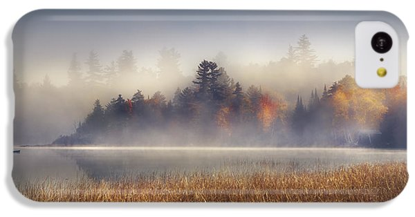 Boat iPhone 5c Case - Sunrise In Lake Placid  by Magda  Bognar